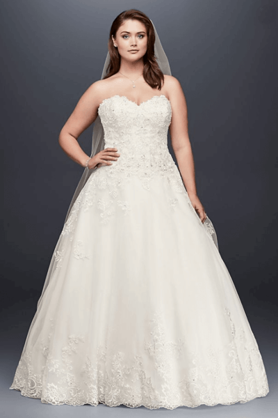 свадебные платья для большого бюста