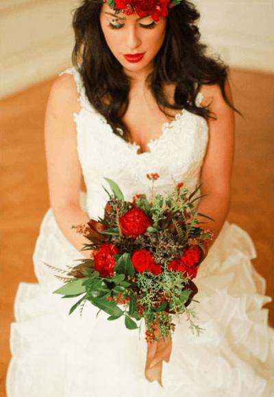 красивый букет невесты из роз