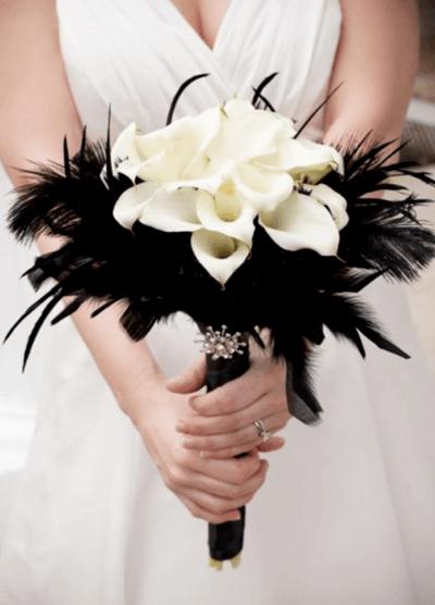 нежный белый букет невесты