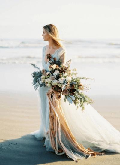 свадебный букет невесты живые цветы