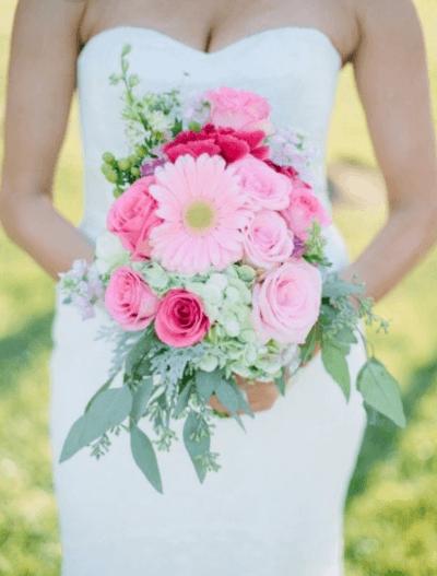 букет невесты гербера