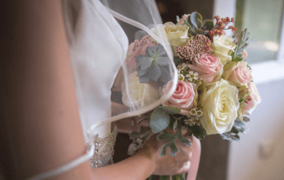пионовые розы букет невесты