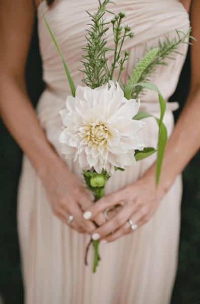 свадебный букет маленький фото