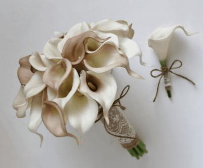 свадебный букет бежевого цвета