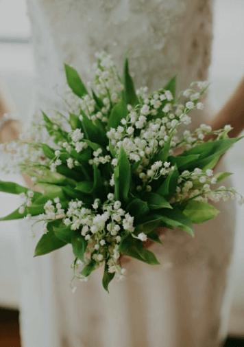 букет невесты в зеленом цвете