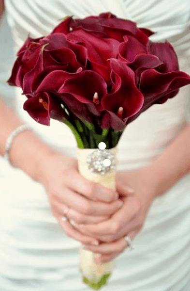 свадебный букет невесты зима