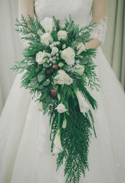 свадебные букеты зимой