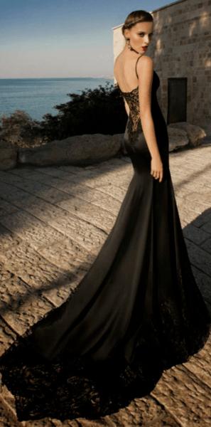 черное платье на свадьбу в качестве гостя