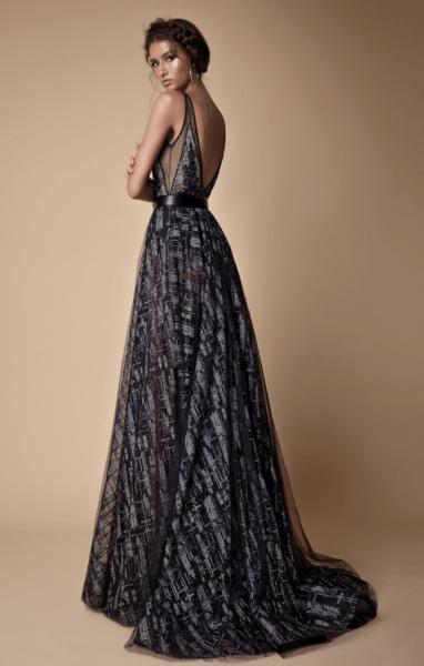 черное пышное свадебное платье