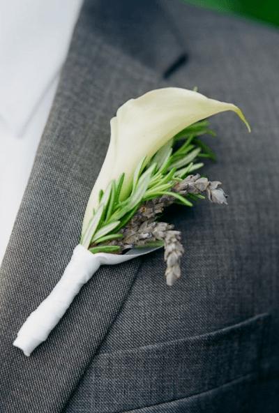 для свидетелей на свадьбу бутоньерки