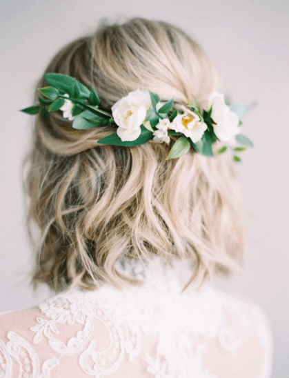 короткие прически на свадьбу