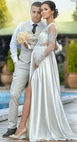 Свадебные платья для беременных (фото) b2ef6533298