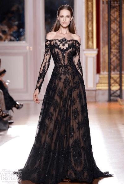 красно черное свадебное платье