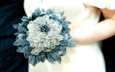 свадебные букеты из бисера картинки