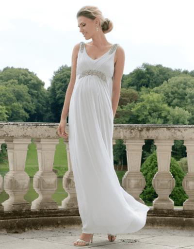 свадебные платья для беременных пышные