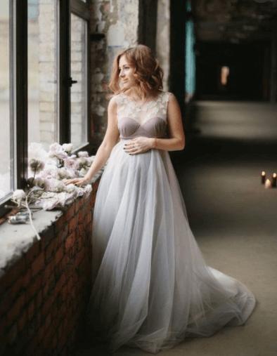 свадебное платье для беременной невесты фото