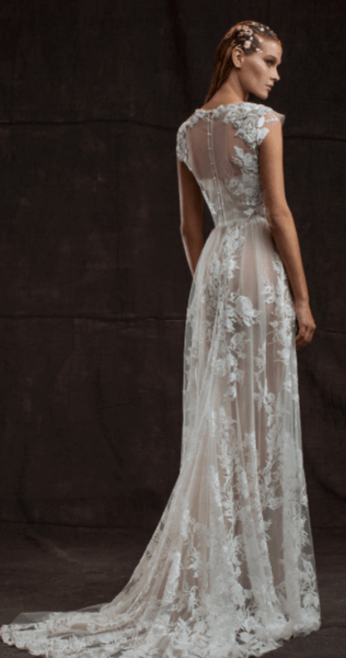 свадебные платья прямые в пол