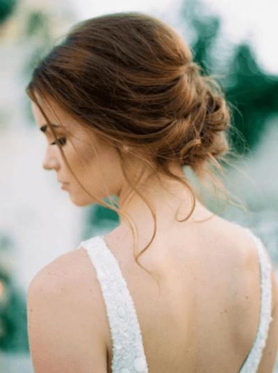 свадебные прически собранные