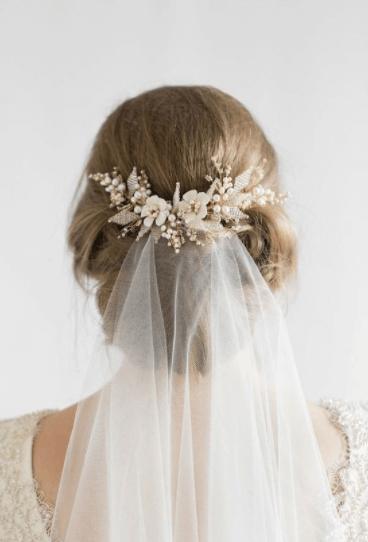 свадебная прическа под пышное платье