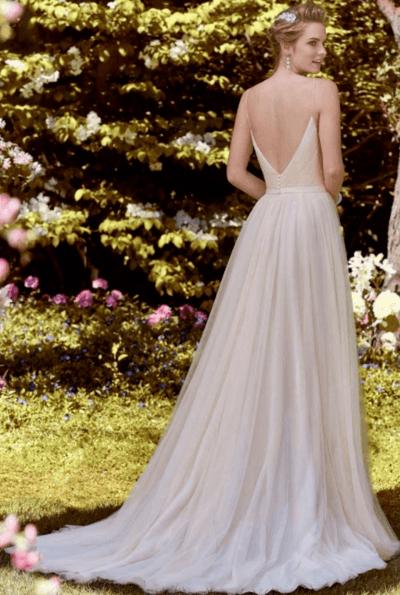 свадебные платья а силуэта кружевные фото