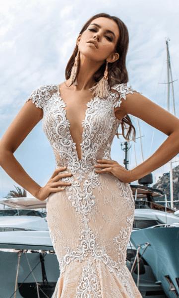 свадебное платье айвори