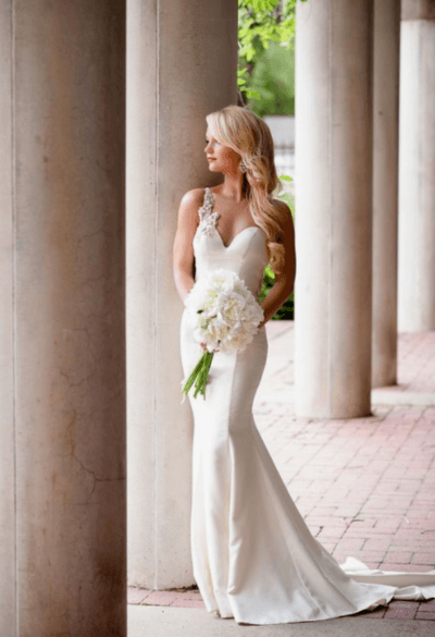 свадебные платья рыбка кружевное