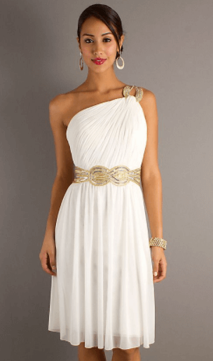 свадебное платье в греческом стиле короткое