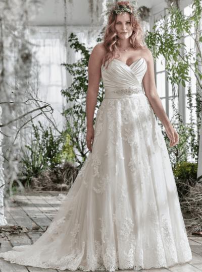свадебные платья а силуэта большого размера