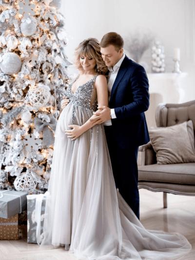 вечерние платья для беременных на свадьбу фото