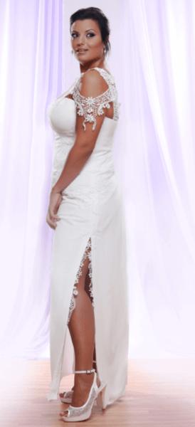 короткие свадебные платья больших размеров
