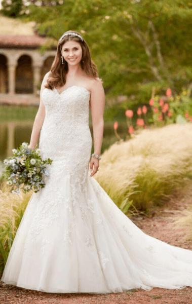 свадебное платье для толстых невест фото
