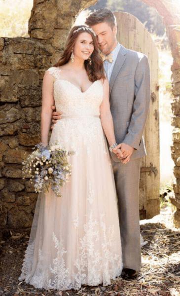 платье на свадьбу для полных женщин фото