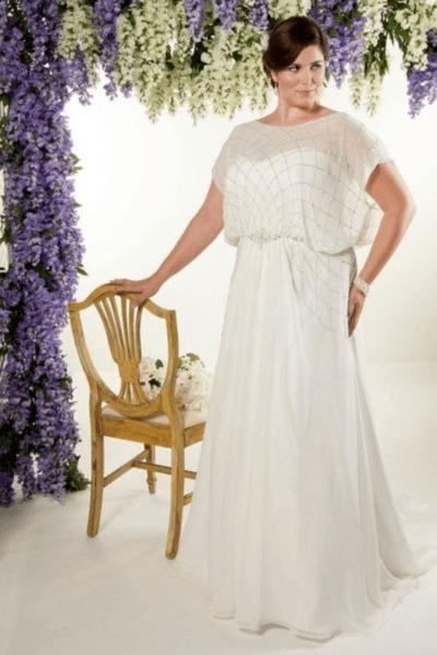 вечерние платья на свадьбу для полных девушек