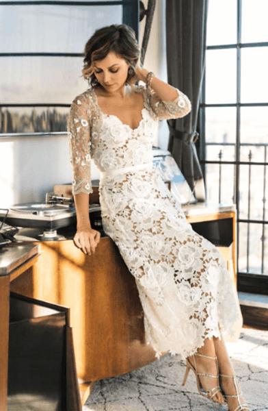свадебные платья миди фото