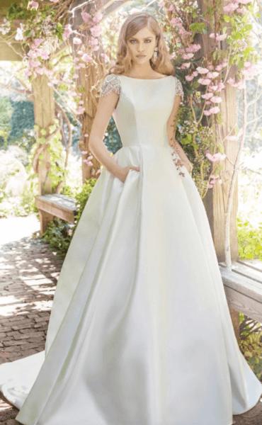 свадебное платье закрытое с кружевом