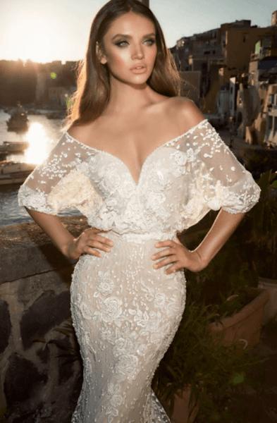 свадебные платья закрытые кружевные