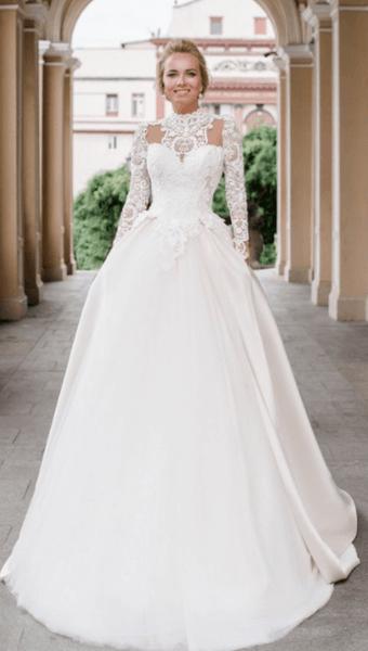 свадебные платья пышные закрытые