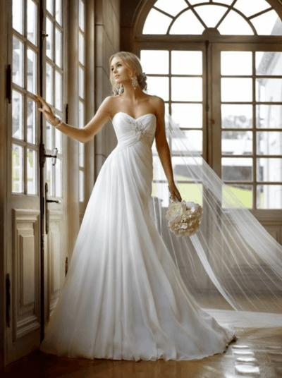 свадебные платья силуэт ампир