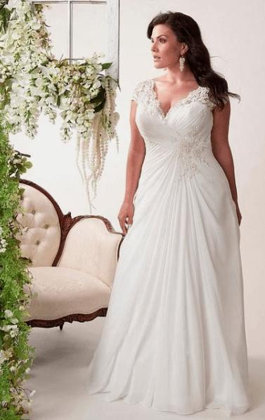 свадебные платья ампир фото