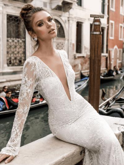свадебные платья закрытые кружевные с рукавами