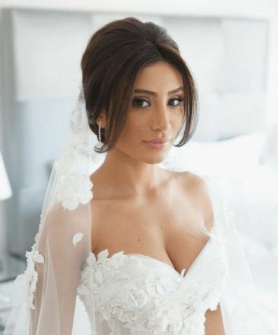 свадебные прически на средние волосы пучок
