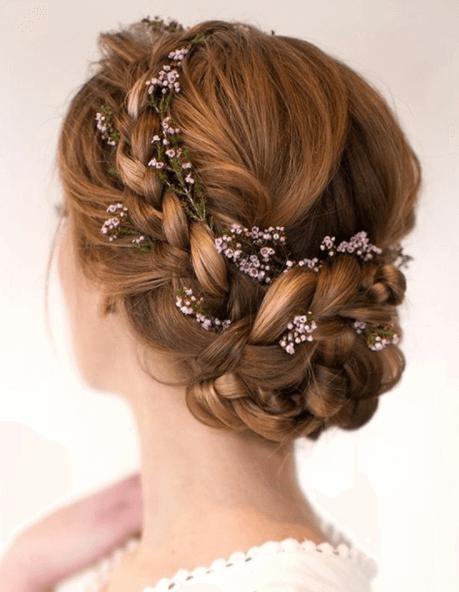 свадебные прически с плетением
