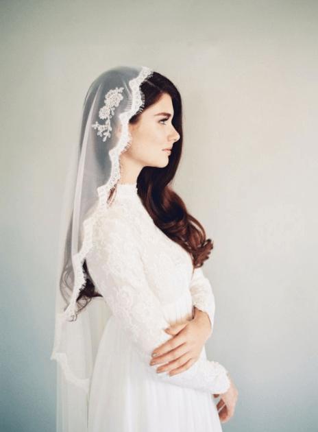 красивые свадебные прически с фатой