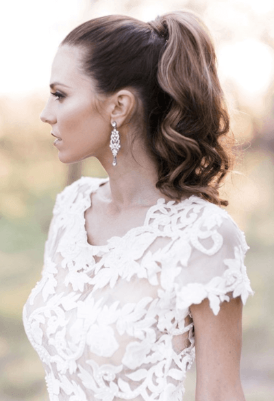 свадебные прически убранные волосы