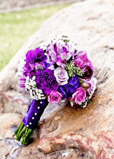 свадебный букет из хризантем своими руками