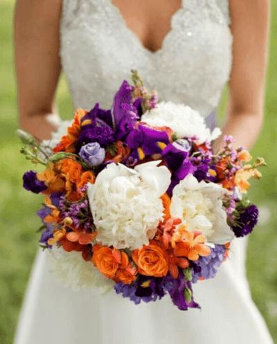 букет невесты роза хризантема