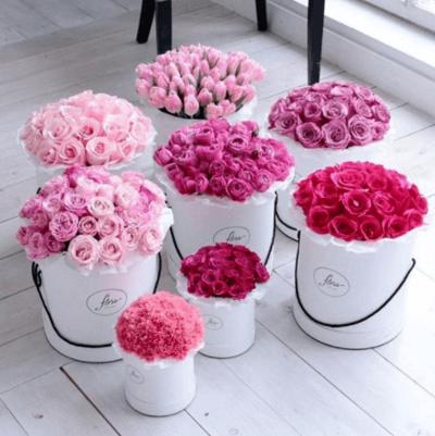 белые пионовидные розы букет невесты