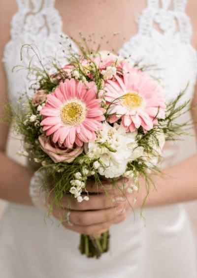 свадебный букет из хризантем фото