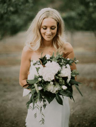 живые букеты невест