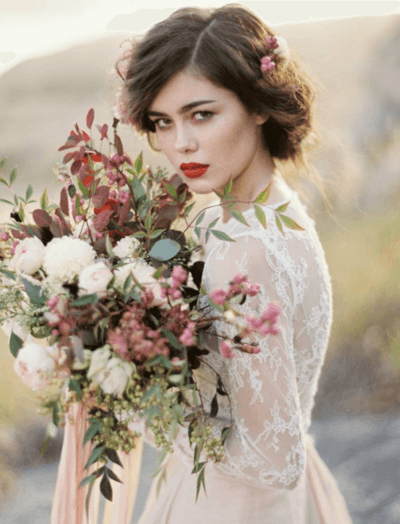 свадебный букет из живых цветов